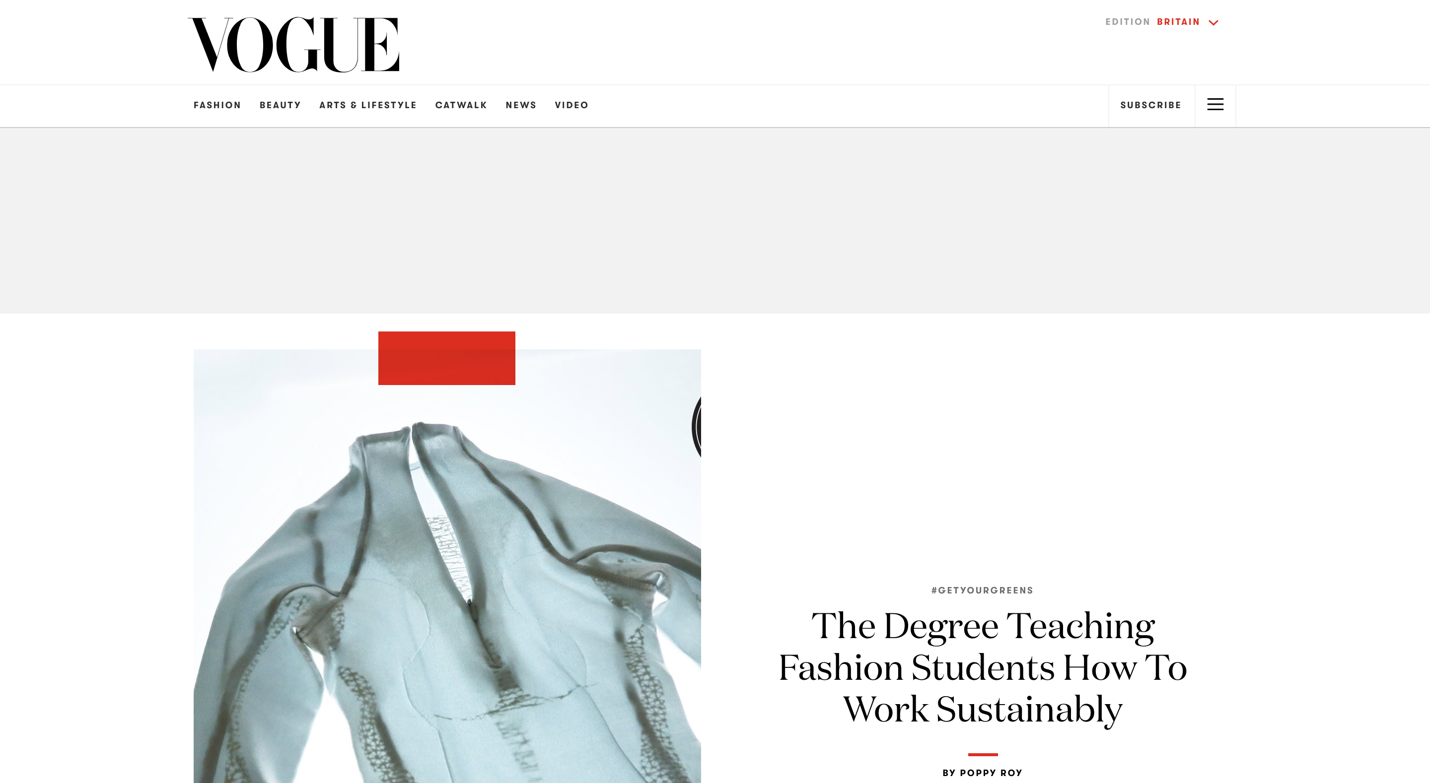 Design Education Interview with British Vogue